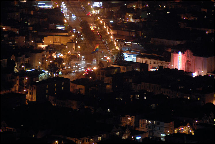the castro at night san francisco california