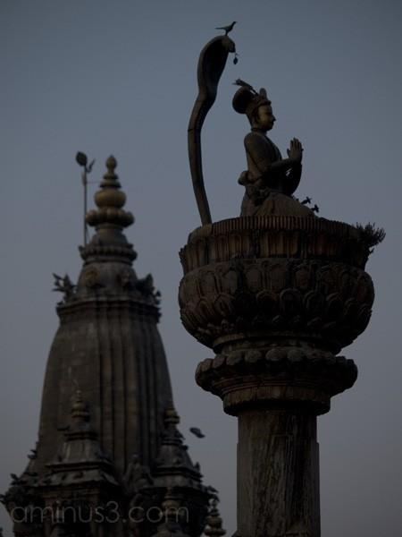 Dusk at Patan Square