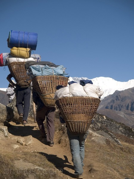 Porters with loads