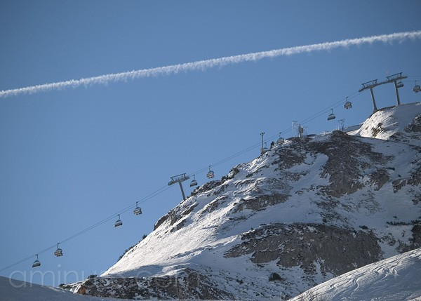 Chairlift on the ski line