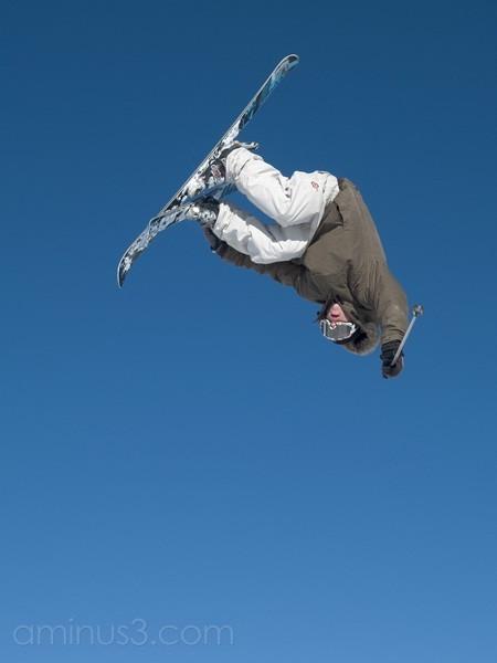Snow park tricks