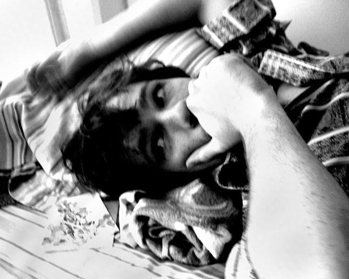 pondering hippie