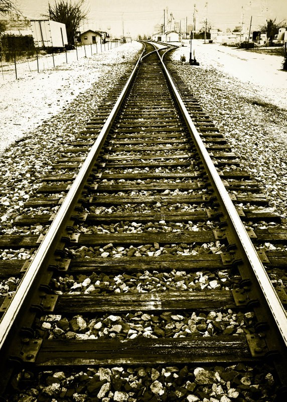 Tracks leading to ...