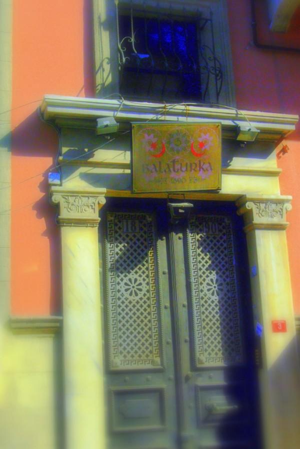 a door in Balat streets
