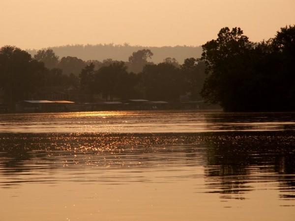 Sunset on an Ozark lake.