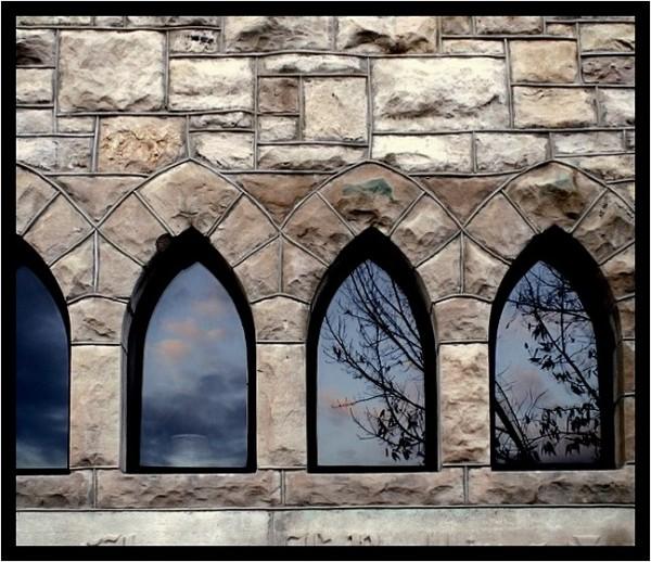Sky reflection in windows