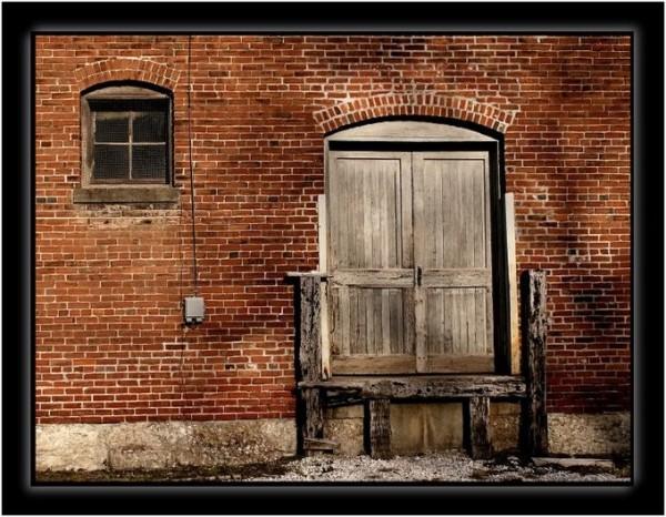 Old loading dock door.