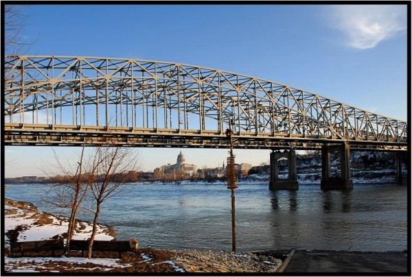 North side of the Missouri river in Jefferson City