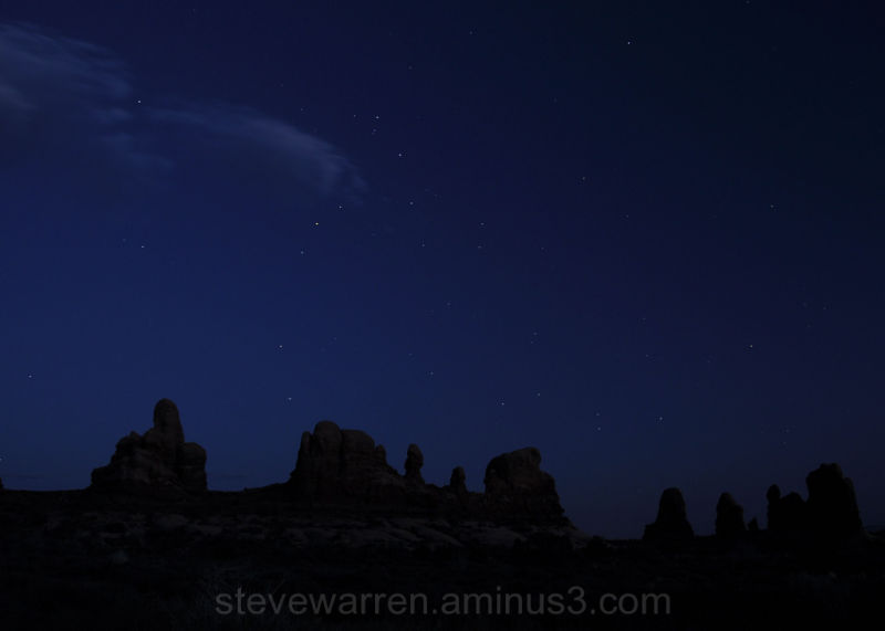 Arches National Park, Stars at Night