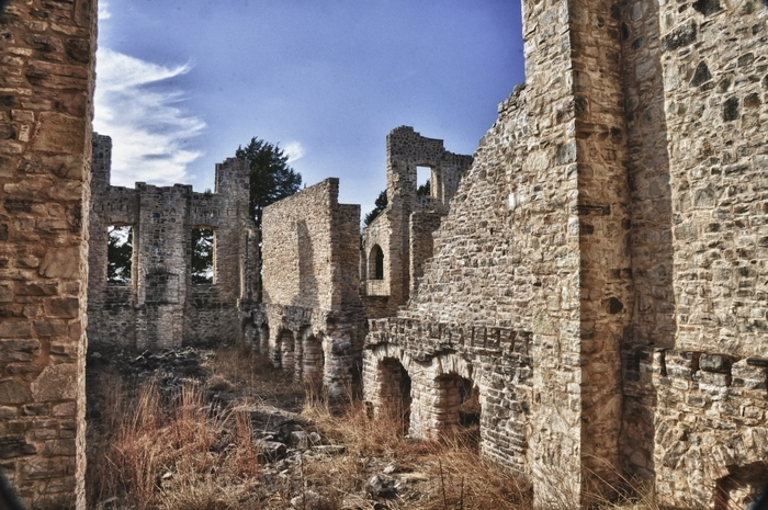 Ha Ha Tonka castle Burned interior