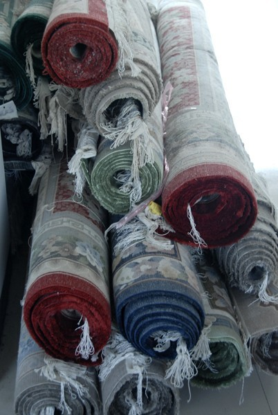 silk carpets china round roll red