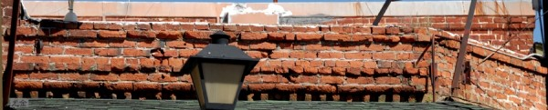 bricks and lamp
