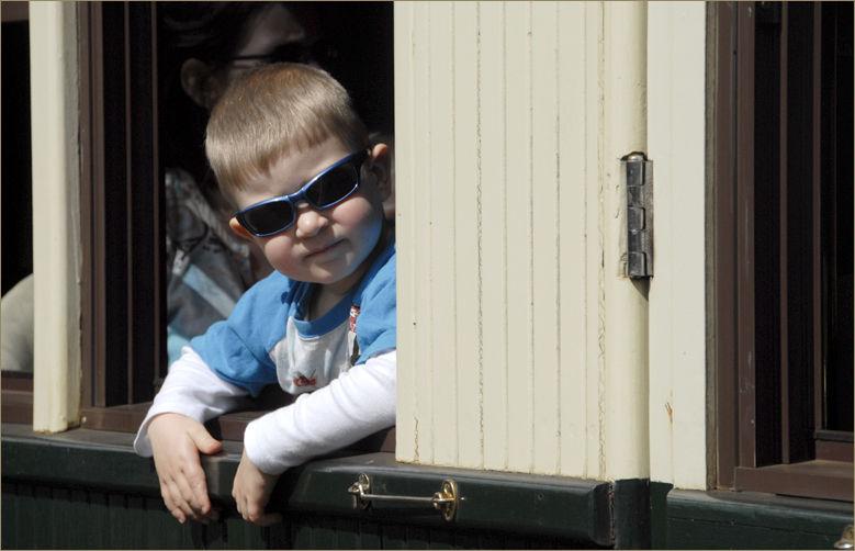 a kid on the way to kuranda