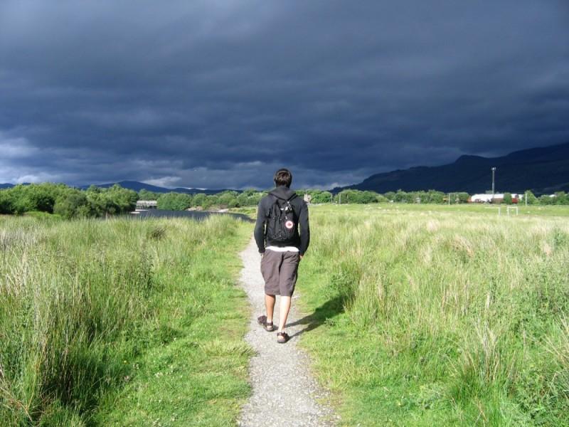 storm in fort william, scotland