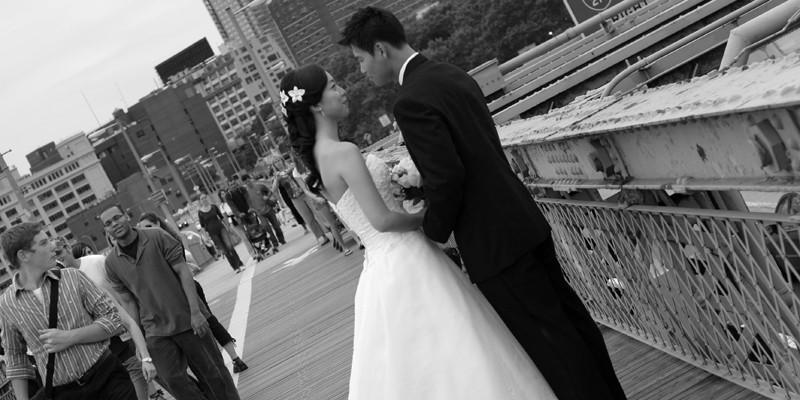 Before the wedding brooklyn bridge