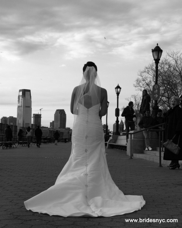 Bride in Battery Park