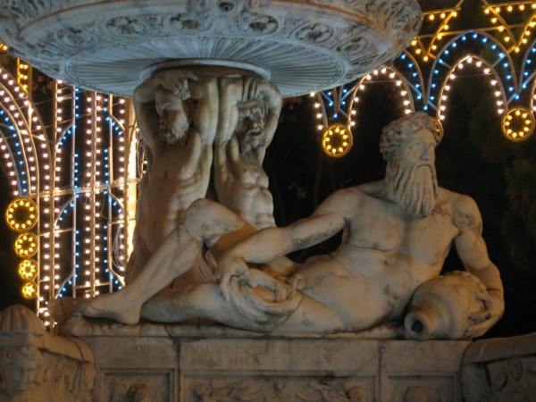 A particular of the Orion Fountain in Messina