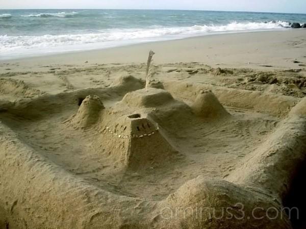 A sand castle