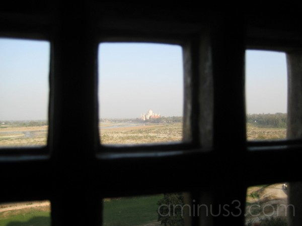view from agra fort