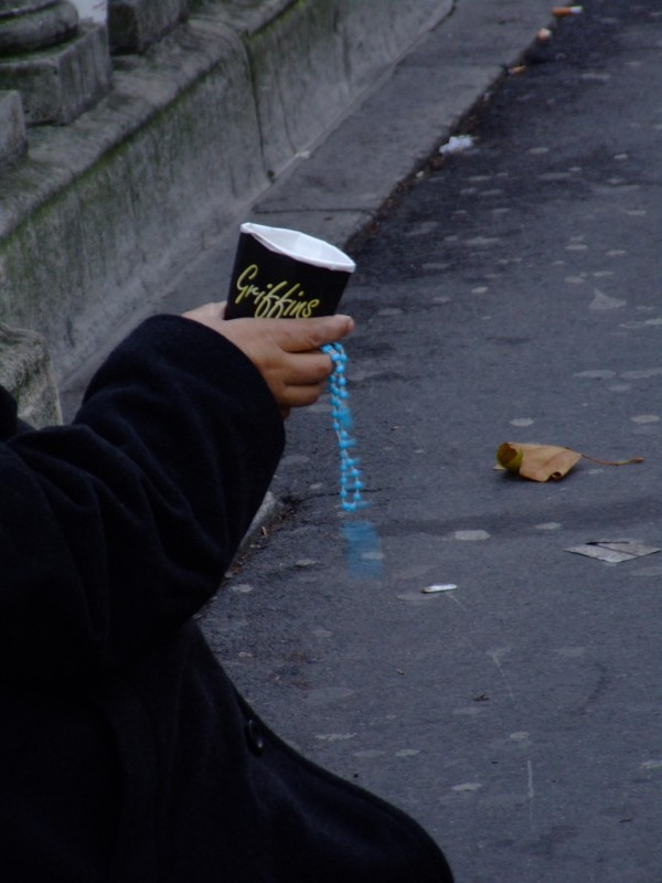 Blue Rosaries and a Coffee Cup