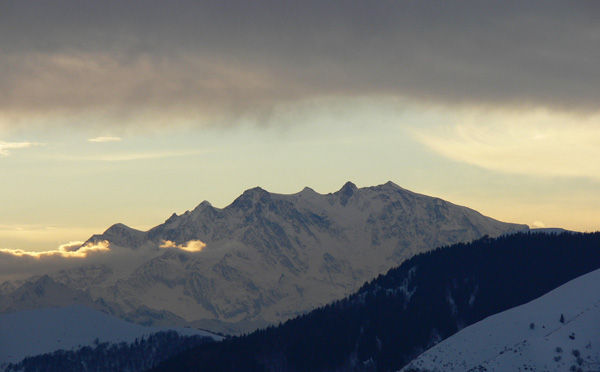 Monte Rosa montagna neve inverno