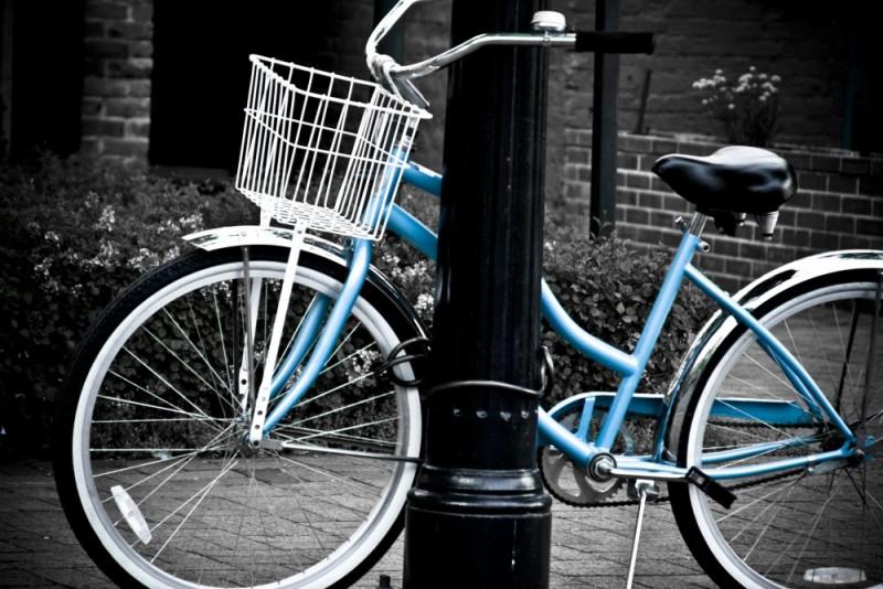 A Blue Bike
