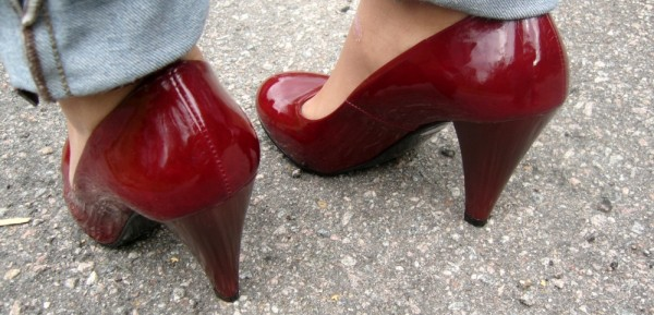 The red shoes.