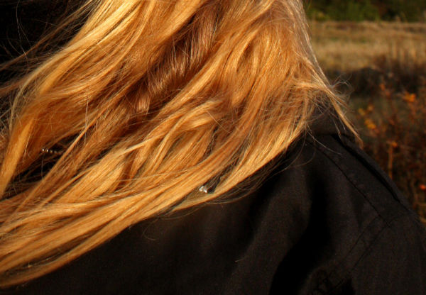 Winter-sun on her hair.