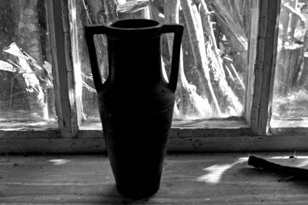 The vase.