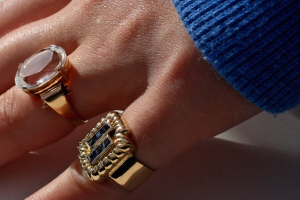 Old rings on young fingers.