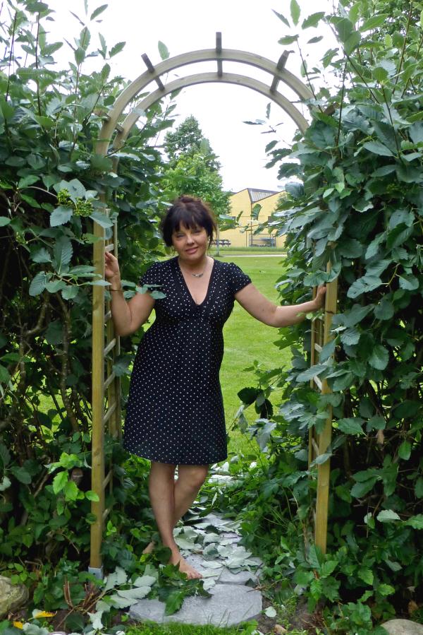 My friend in her garden.