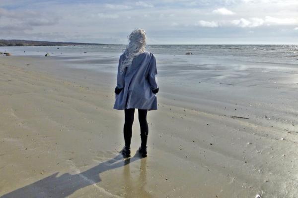 Lucia on the beach?