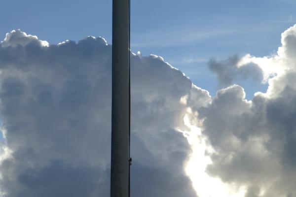 The flagpole.