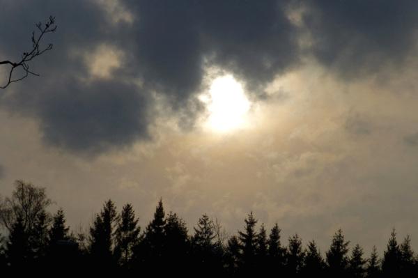 The sky in November.