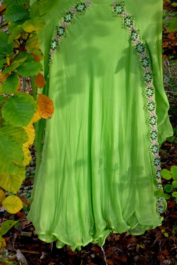 The green dress.