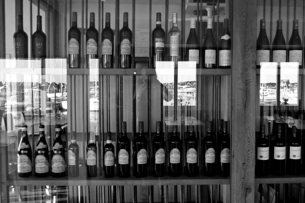Wine bottles in the harbour.