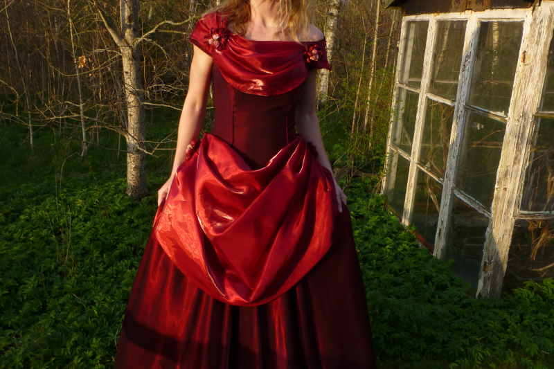 The red dress.