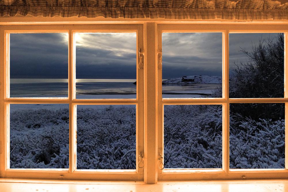 Warm indoors.