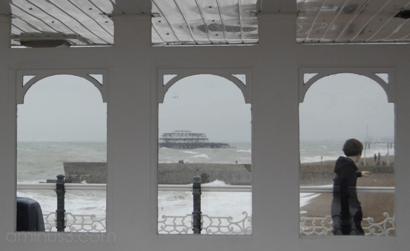 Brigton's West Pier from the Place Pier
