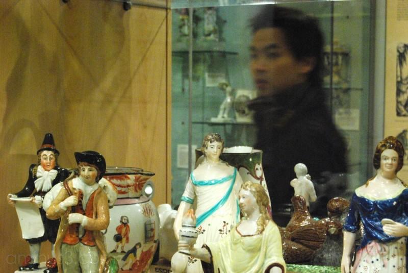 china display case at museum