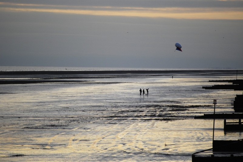 Kite Flyers on Beach