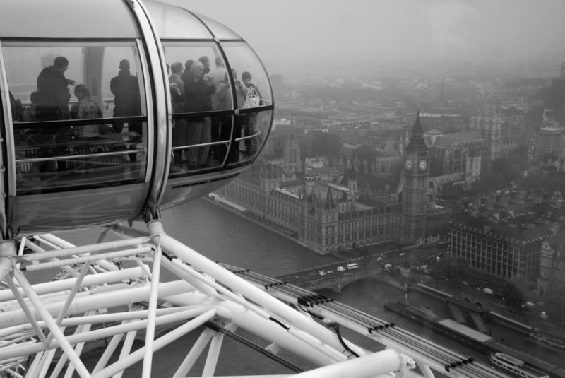 view london eye to houses of parliament & big ben