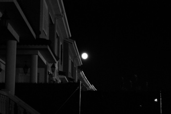 Moon on the roof