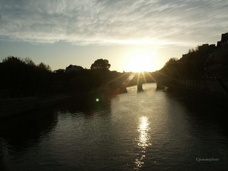 Vue du pont Marie