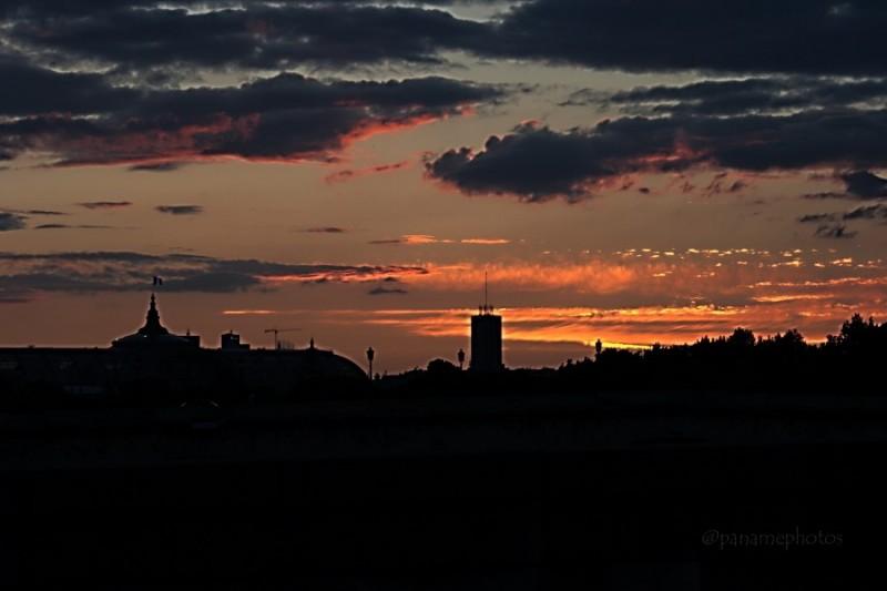 Coucher de soleil sur le Grand Palais