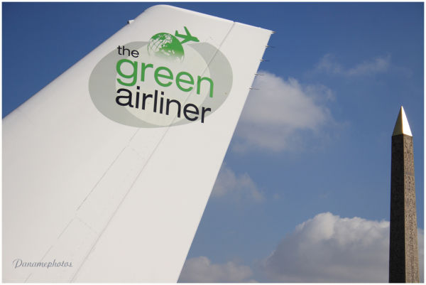 the Green airliner