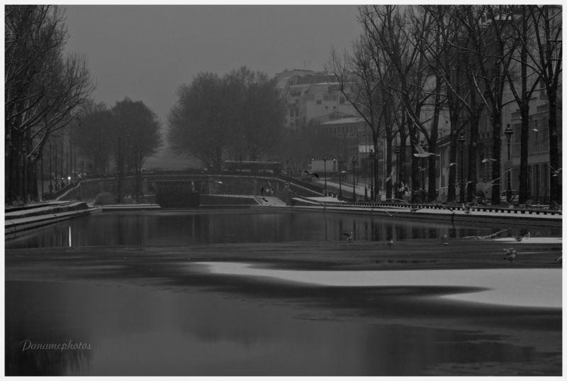 Canal St Martin sous la neige