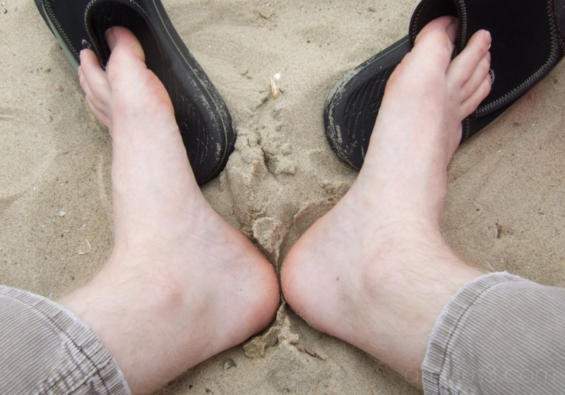 Sat on a beach in Holland