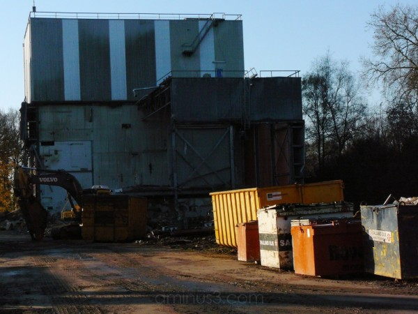 demolition of the old cheese factory