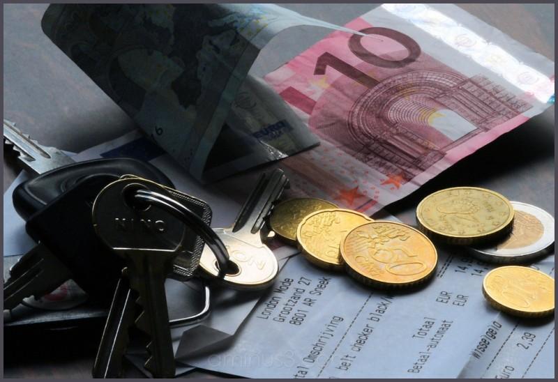 money and keys